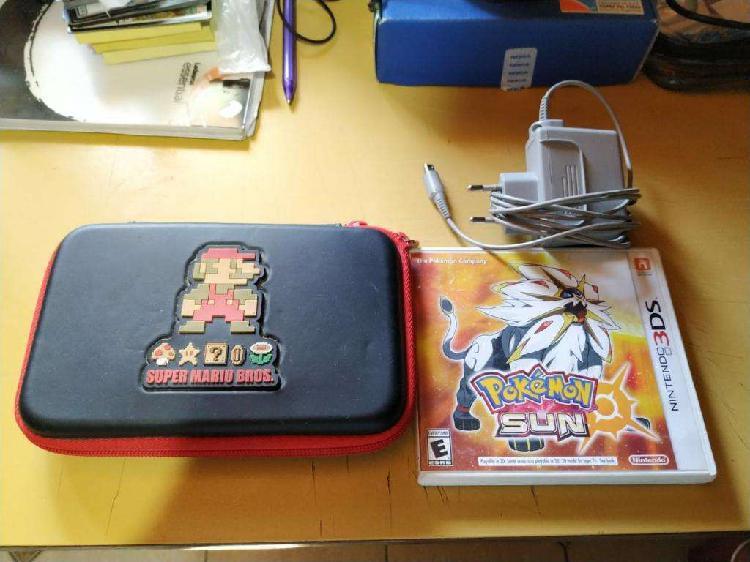 Nintendo 3ds cargador estuche juego