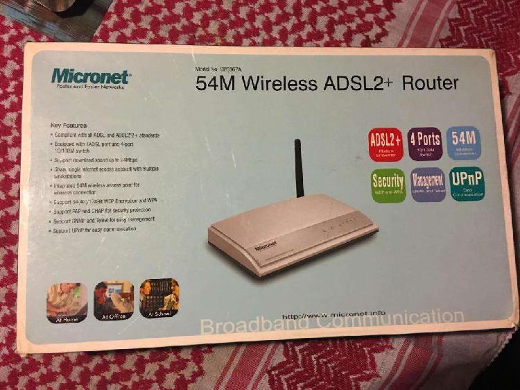 Router Modem Adsl Wifi Microsoft Micronet Modelol Sp3367