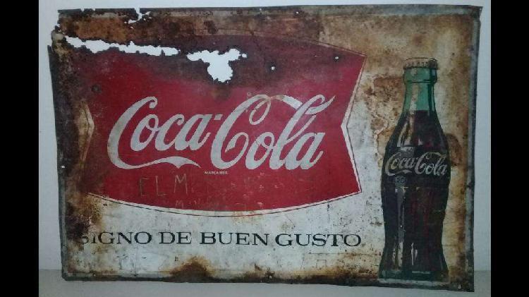 Cartel original de coca cola