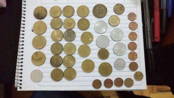 Lote de 43 monedas argentinas