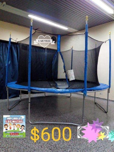 Alquiler cama elástica gigante de 5 mts 600 consultar x