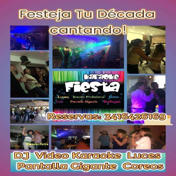 Karaoke fiesta rosario - alquiler de karaoke para eventos