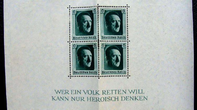 Sellos postales de alemania 1937 en bloque de 4
