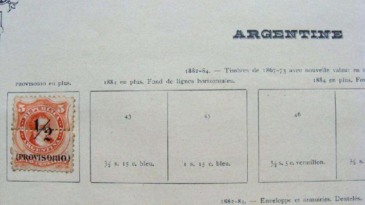 Sellos postales de argentina 1882 – 1884