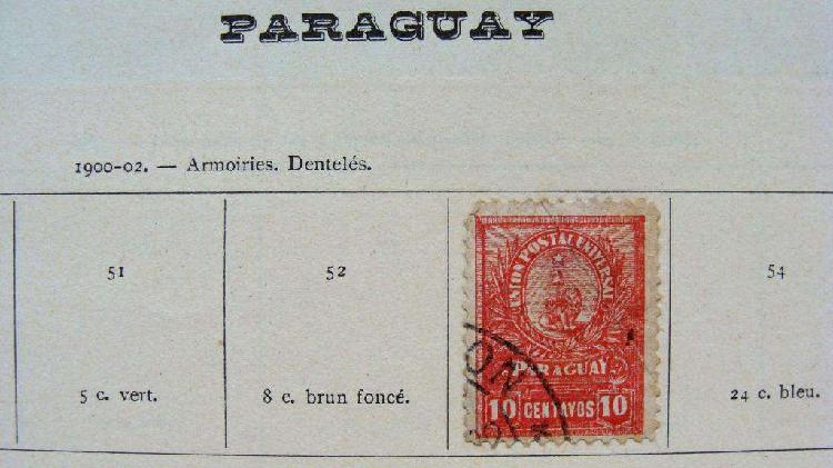 Sellos postales de paraguay 1900 – 1911