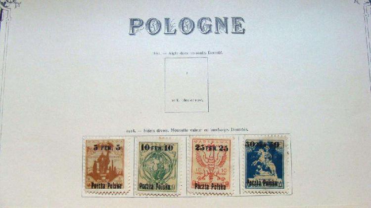 Sellos postales de polonia 1918 – 1919