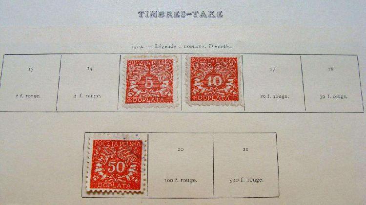 Sellos postales de polonia 1919 – 1921