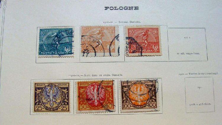 Sellos postales de polonia 1921 – 1922