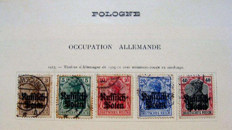 Sellos postales de polonia durante la ocupación alemana