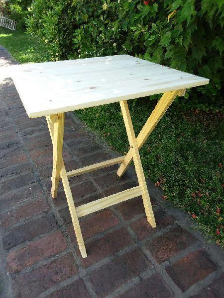 Mesa madera plegable de madera uso bar y jardín