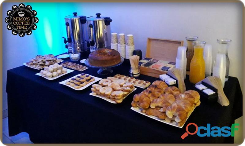 Coffee break para eventos coorporativos y/o sociales
