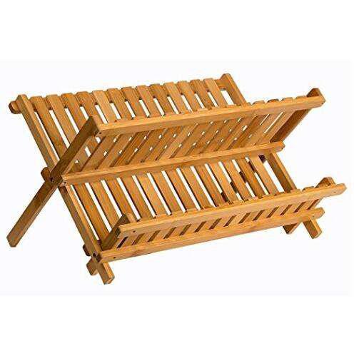 Secaplatos madera maciza bamboo rebatible