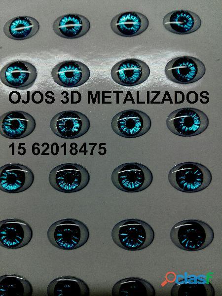 Ojos metalizados 3d
