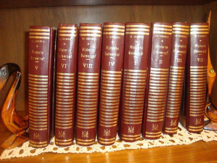 Enciclopedia de historia universal seignobos 8 tomos