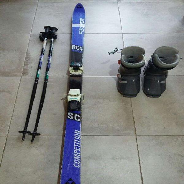 Equipo de esqui alpino conpleto