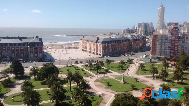 2 ambientes a la calle con vista panorámica al mar y a plaza colon