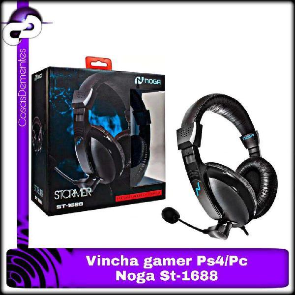 Auriculares vincha gamer noga st1688 pc consola xbox ps4