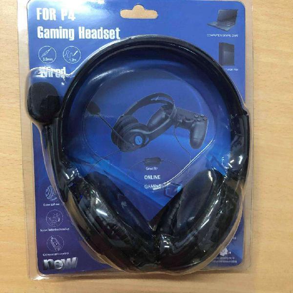 Auricular vincha para ps4 pc con microfono play 4