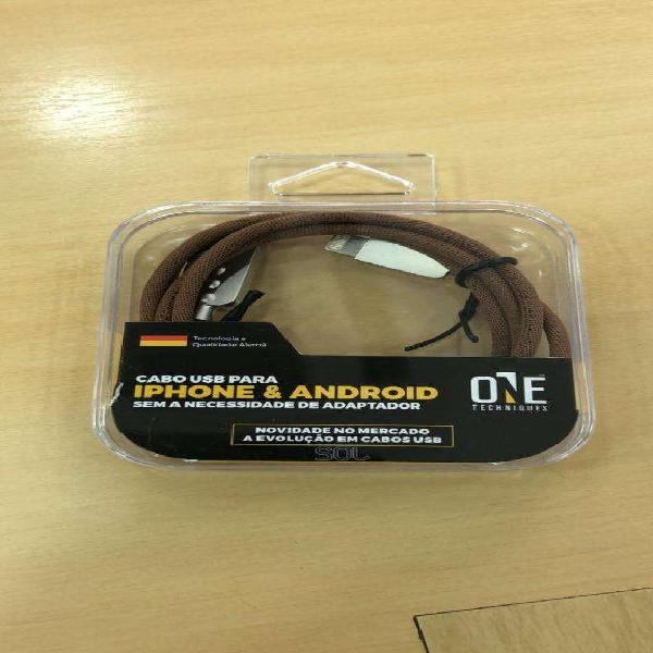 Cable 2x1 iphone android reforzados
