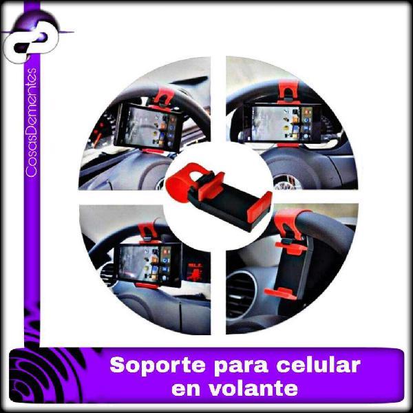 Holder soporte universal de volante porta celular para auto