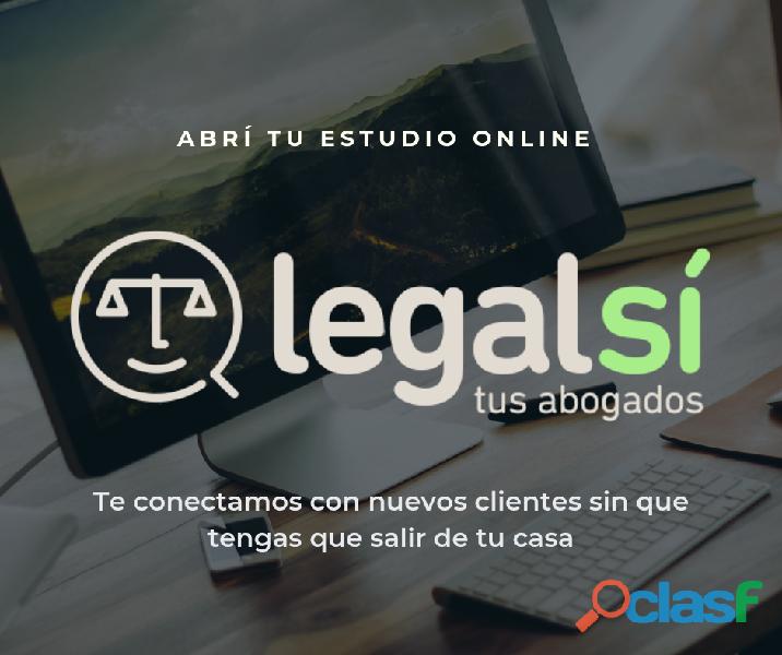 ¿Sos abogado? Abrí tu estudio online en LegalSí