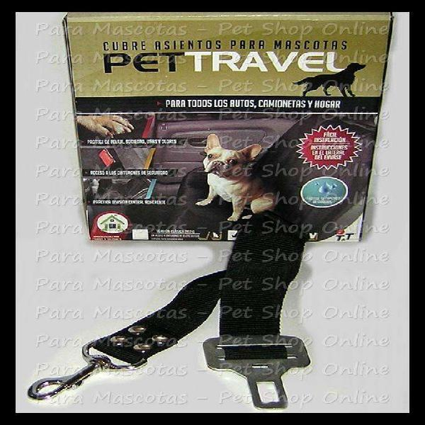 Cubre asientos full cinturón de seguridad para perros