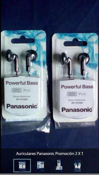Auriculares Panasonic Promoción 2 x 1 Rphv096 Powerful Bass