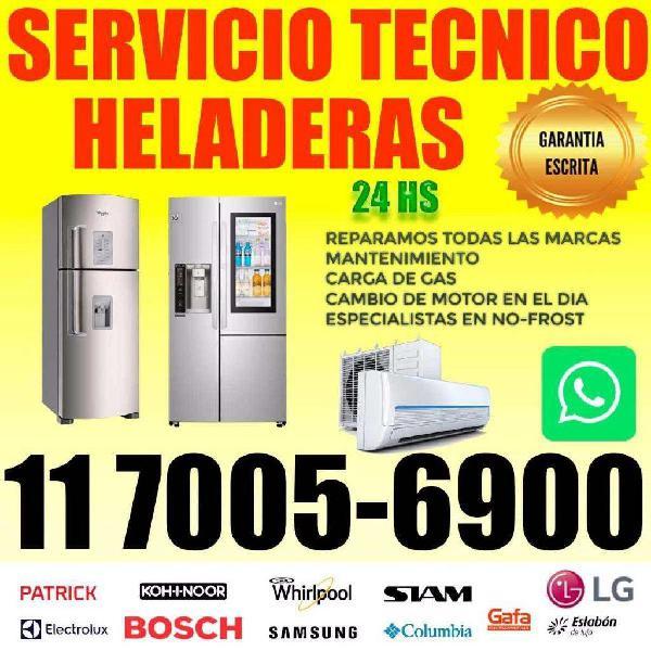 Service heladeras carga de gas motor en domicilio 1570056900