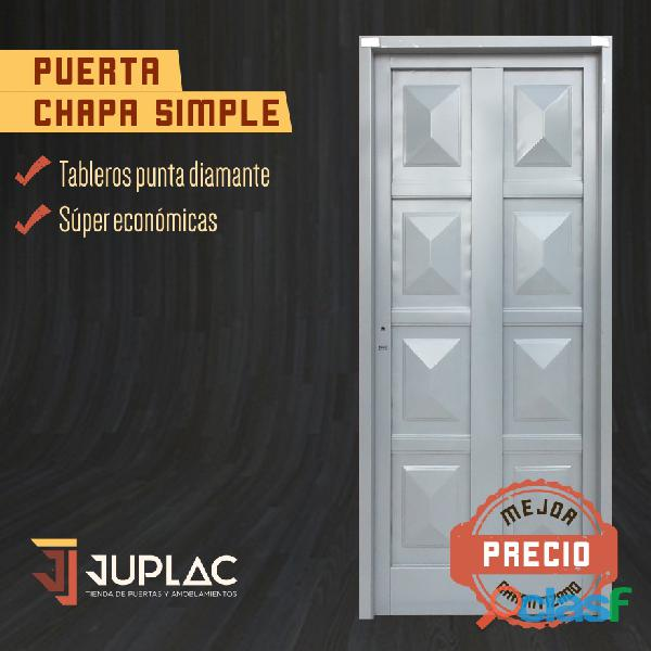 Puerta chapa simple
