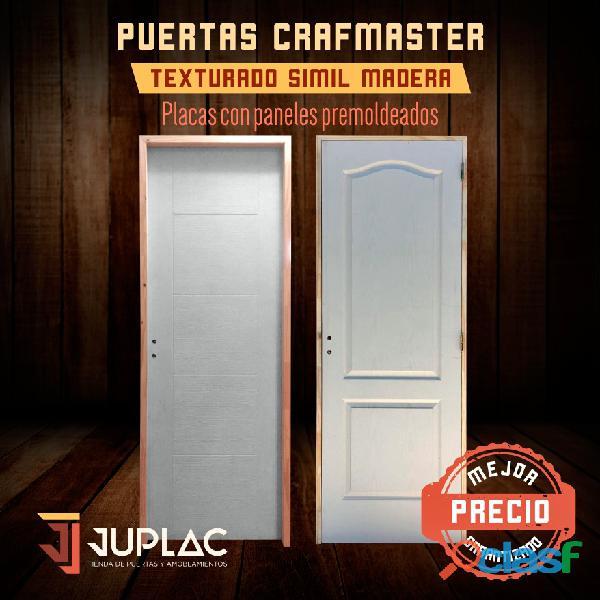 Puertas crafmaster texturado simil madera