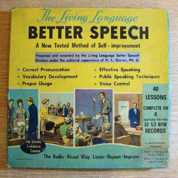 Antiguo curso de inglés caja completa de 4 vinilos en