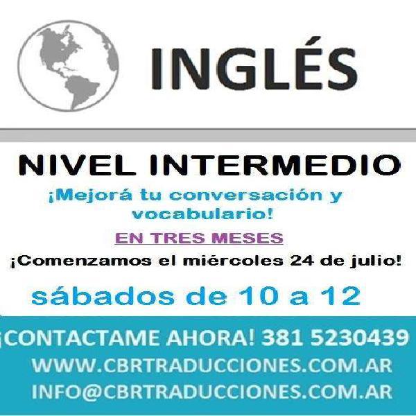 Curso intensivo ingles intermedio tucuman