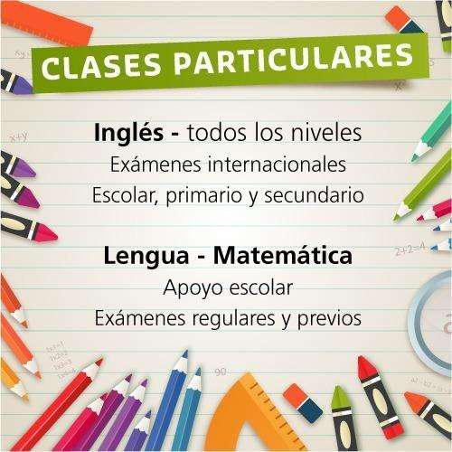 Clases particulares. matemática, lengua e ingles.