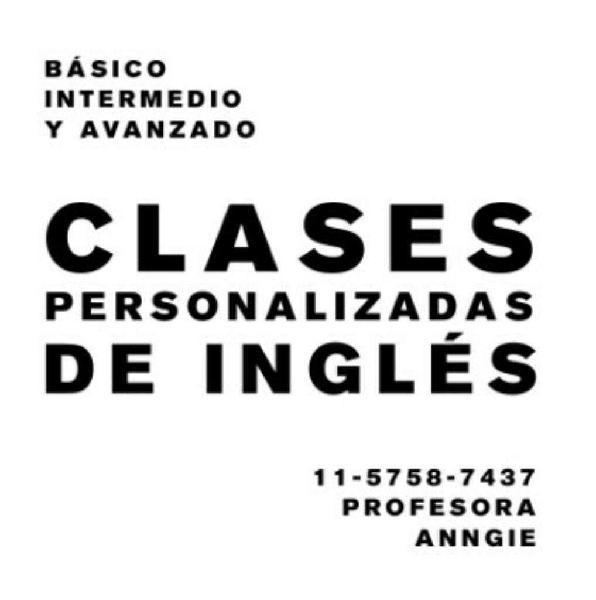 Clases de inglés, profesora nativa