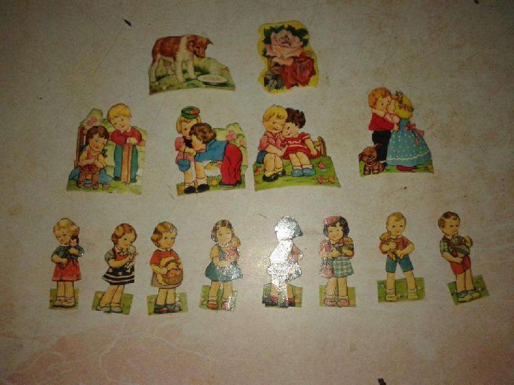 Figuritas antiguas 1955 con motivos de nenes,nenas,