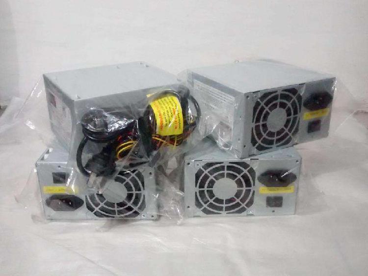 Fuente alimentación pc 500w atx 24 pin cooler led cable