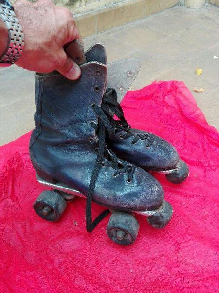 Patines artisticos botas cuero 37 38