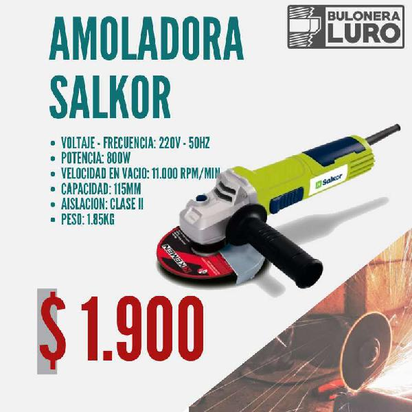 Amoladora salkor / 800 w / 4 1/2 o 115 mm