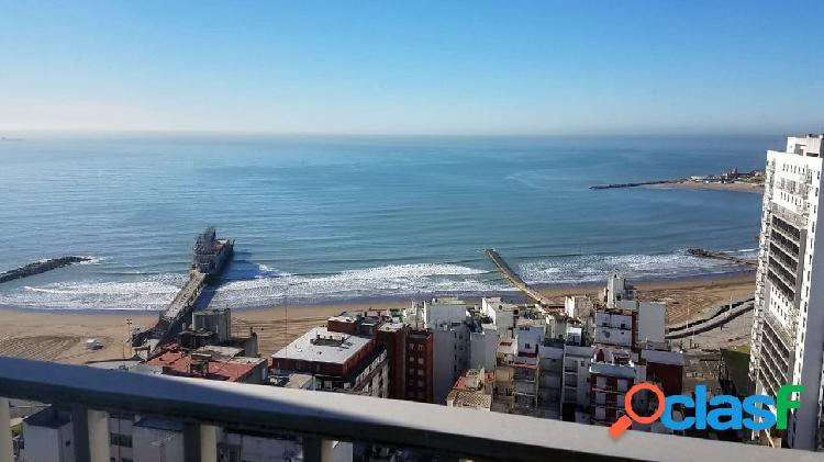 Departamento 4 ambientes con dependencia, cochera y vista al mar en venta en mar del plata