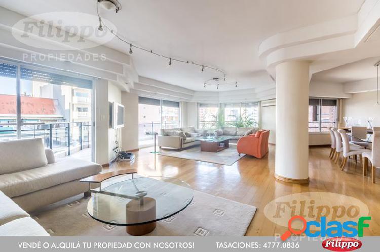 Venta: piso de 5 ambientes con dependencia · 280 m2 · 2 cocheras · seg. 24 hs. · piscina · sum