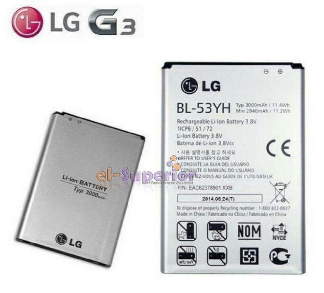 Bateria Lg G3 Optimus D855 Bl53yh Original Zona Obelisco