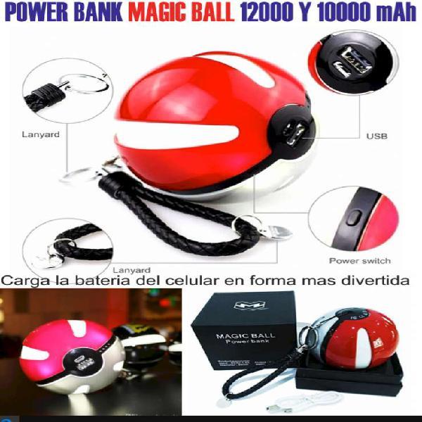 Power Bank Pokemon Poke Ball 10.000mha Cargador Portátil