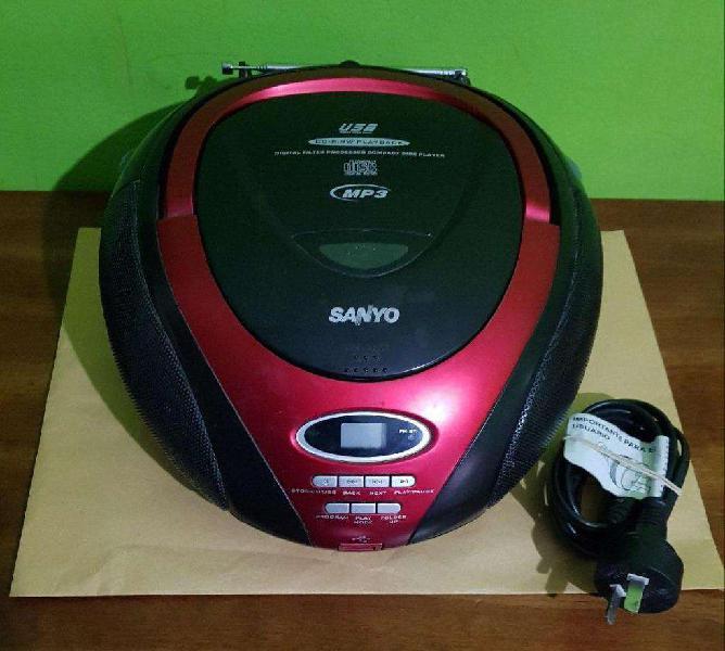 Radio reproductor sanyo mdx 110, reproduce cd, acepta mp3 y
