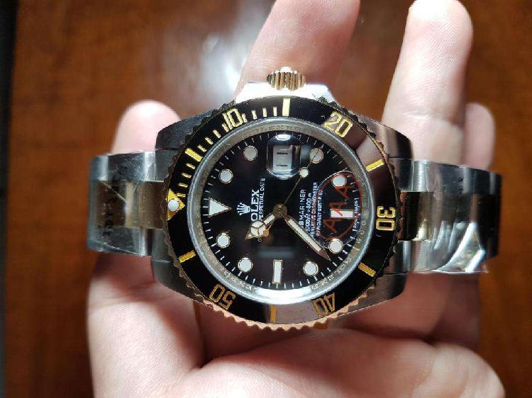 Reloj rolex submariner date 40 mm combinado automático