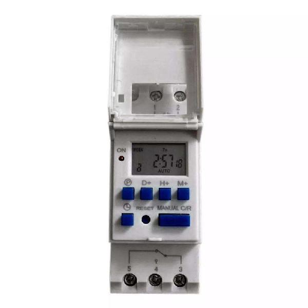 Temporizador timer 12v reloj digital riel din timmer lcd