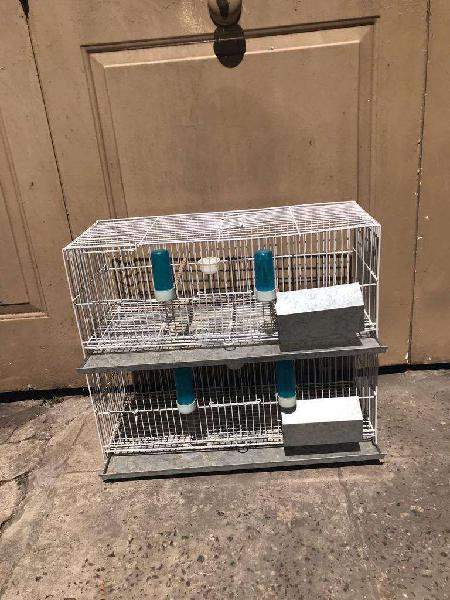 2 jaulas de cria de 60x23x24 c/u 1500