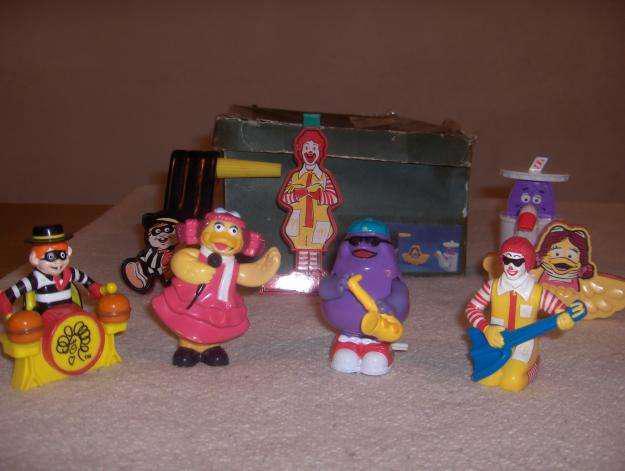 Muñecos mac donalds antigua coleccion banda de musica