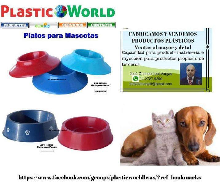 Platos para mascotas (perros y gatos) al mayor
