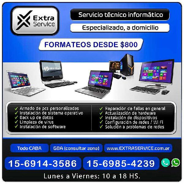 Extra service - servicio técnico informático a domicilio