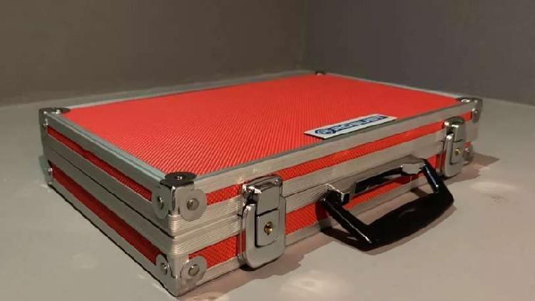 Maletin de aluminio con llaves caja de herramienta cosmetico